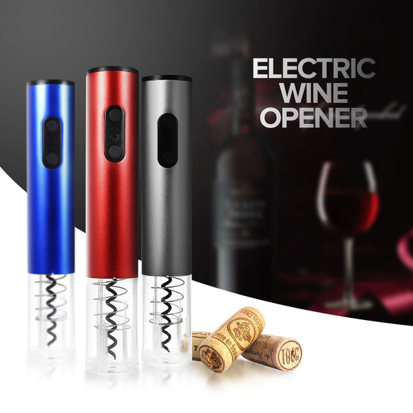 Electric Automatic Wine Bottle Opener w/ Foil Cutter and Vacuum Stopper
