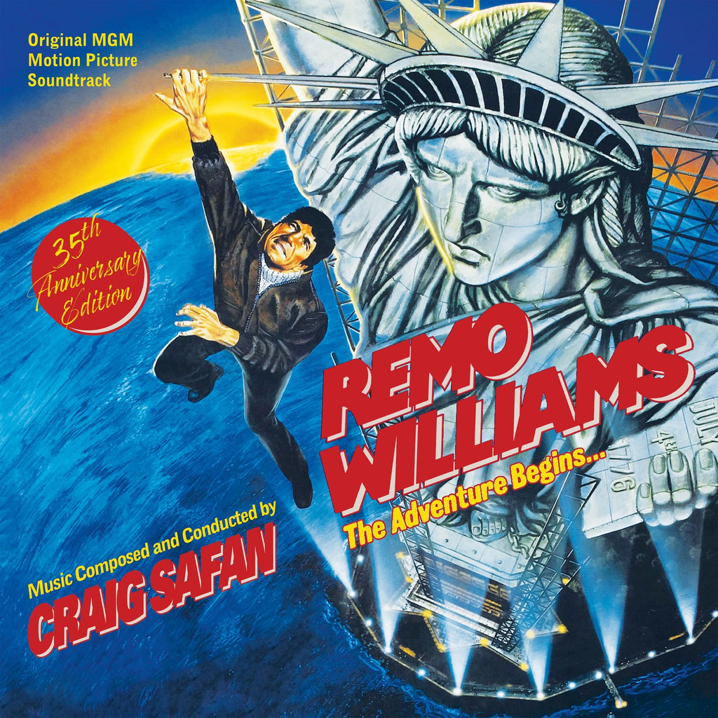 Remo Williams The Adventure Begins: Original MGM Motion Picture Soundtrack by Craig Safan (2-LP set)