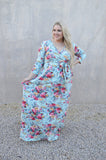 Wrap it Up Floral Maxi