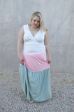 Color Block Tank Maxi