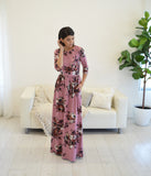 Sienna Mauve Maxi Dress