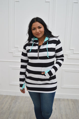 ZipCowl Hoodie: Talking Stripes