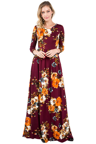 Sienna Maxi Dress: Wine
