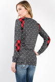 Polka Dot and Buffalo Plaid Sweater