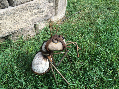 Yard Art Ant Rock