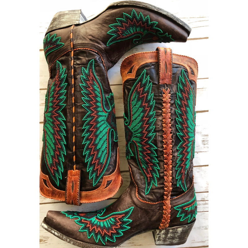 Chaquira Eagle Beaded Boot