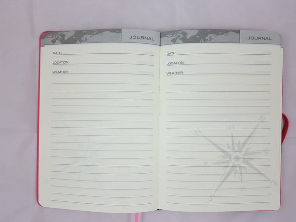 Travel Journal A5 Pink Embossed