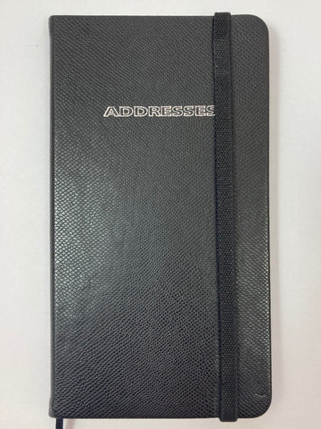 Slim Address Book Black