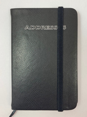 Mini Address Book Black