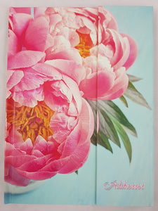 A5 Address Book Flip Cover - Peony