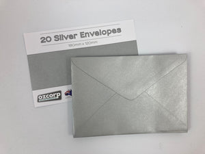 Envelope Pack of 20 Silver