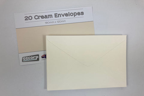C6 Envelope Set Cream