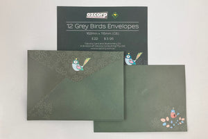 Envelope Set Grey Bird