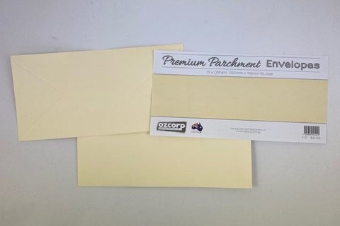 Envelope Set Parchement DL Cream