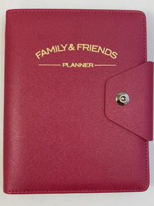 Family & Friends Planner - Binder, Cherry