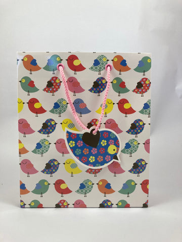 Gift Bag Large Cute Birdies