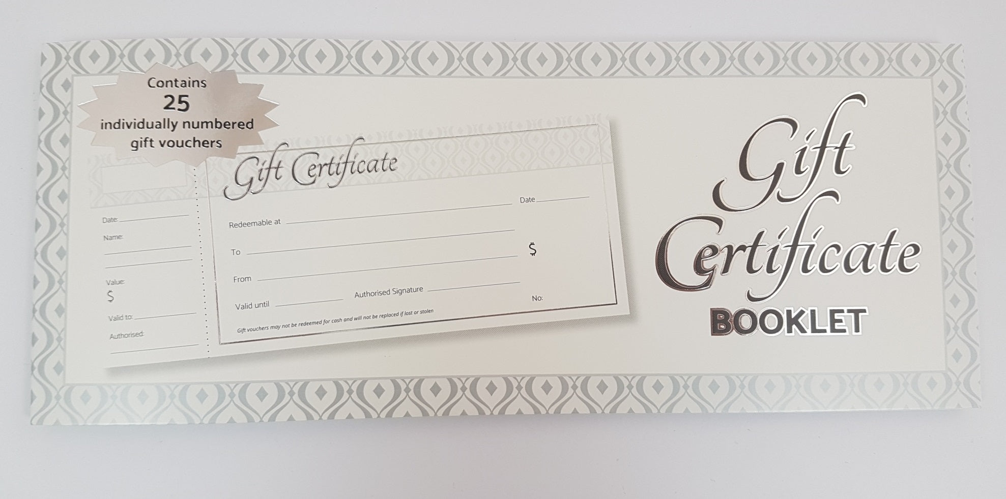 Gift Certificate Booklet of 25
