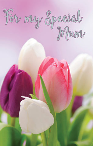 Inspire Greeting Card - Mum Tulips