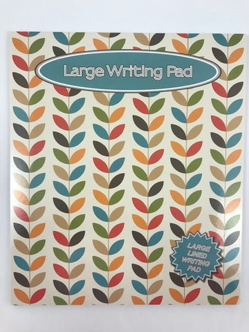 Large Writing Pad 'Leaves'