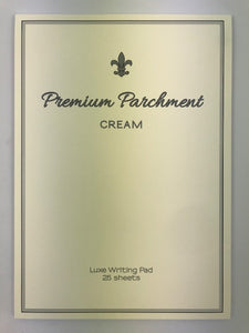 A4 Parchment Writing Pad - Cream