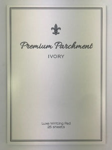 A4 Parchment Writing Pad - Ivory