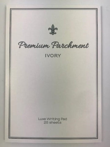 A5 Parchment Writing Pad - Ivory