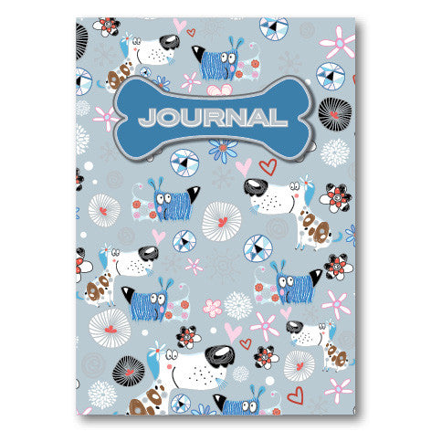 A5 Hardcover Journal - Blue Dogs