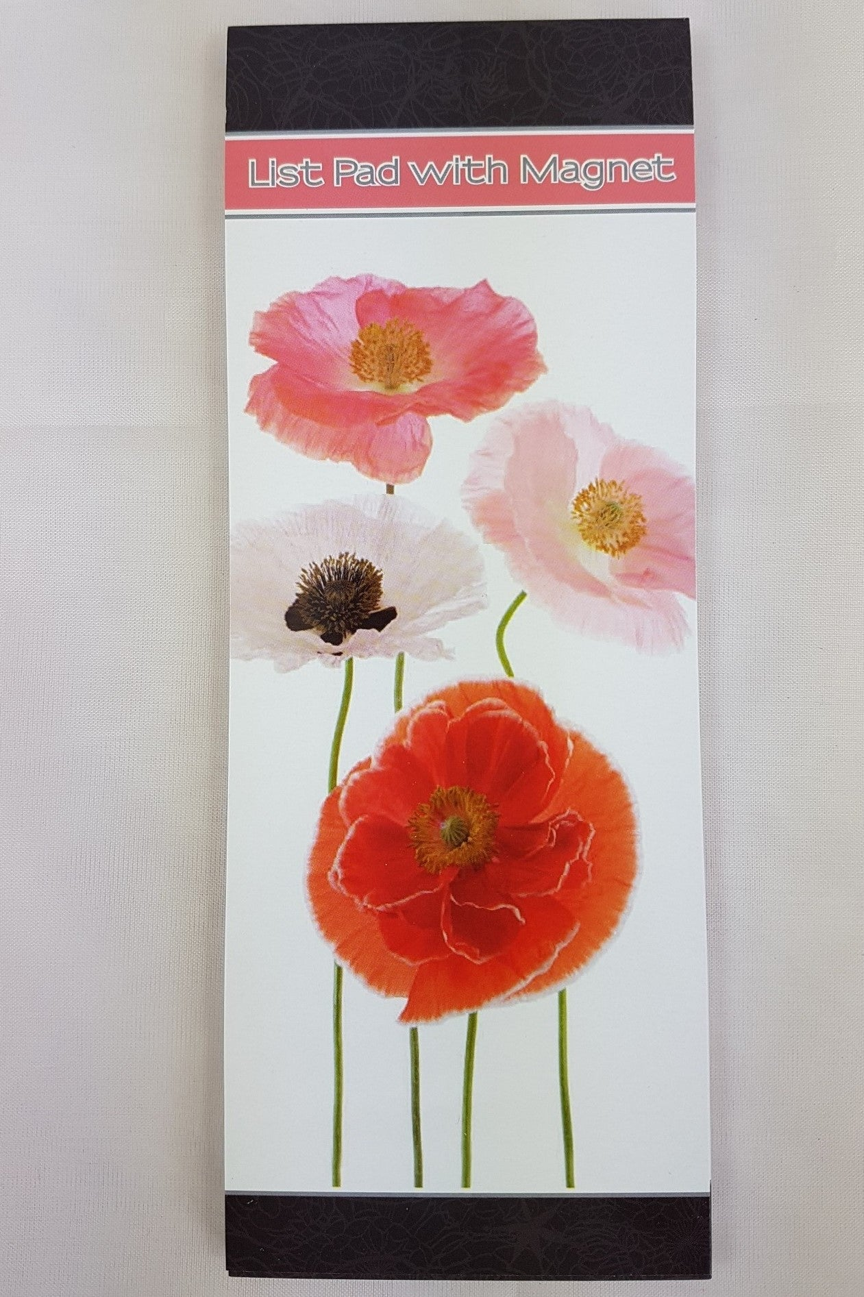 Magnetic List Pad Poppies