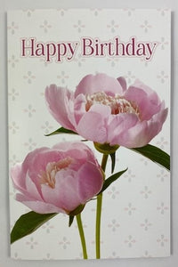 Modern Living Card - Happy Birthday Peony
