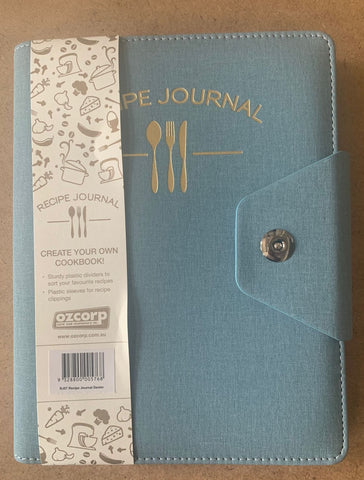 Luxury Recipe Journal Binder 'Denim'
