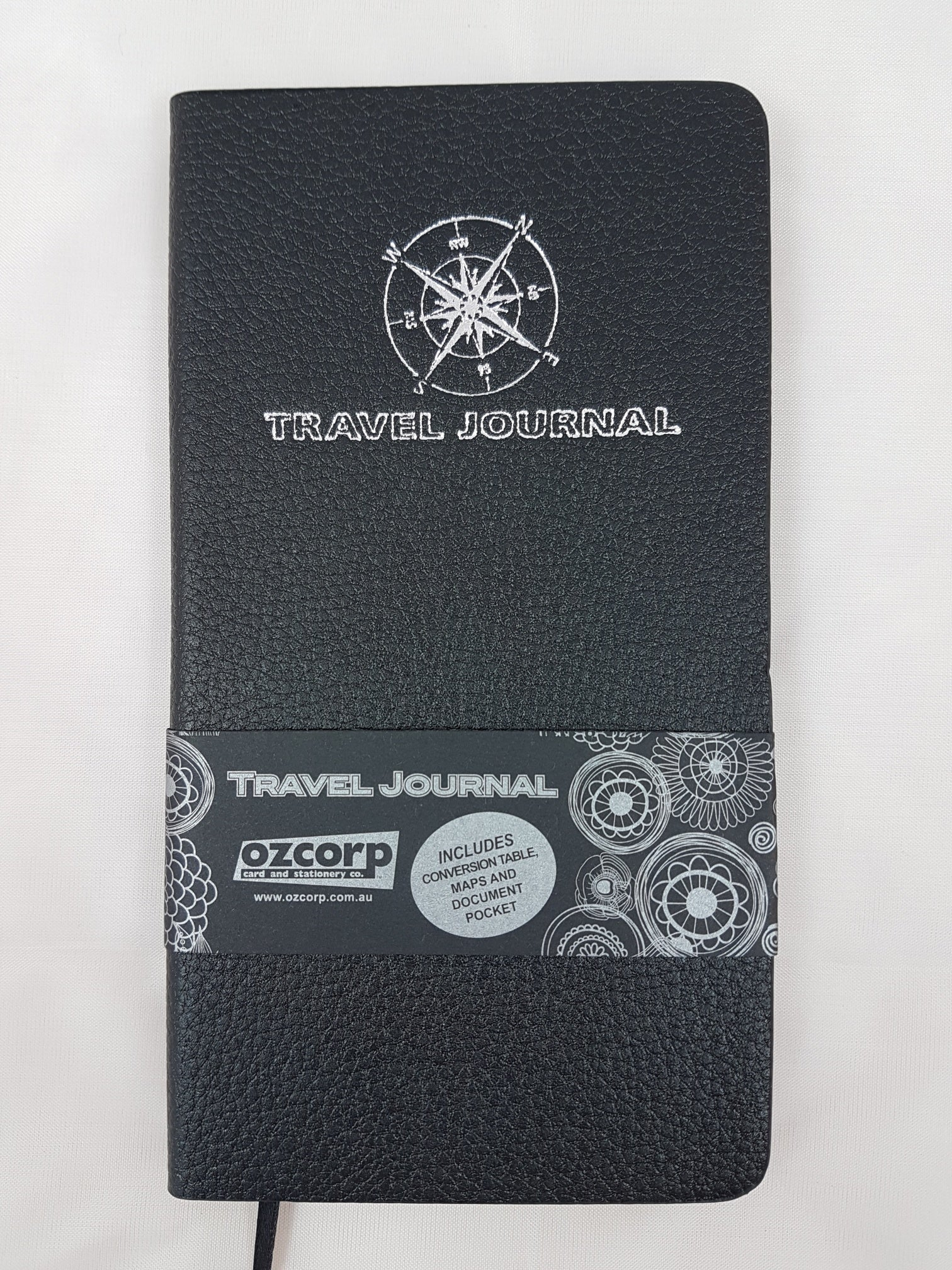 Travel Journal Slim Black Softcover