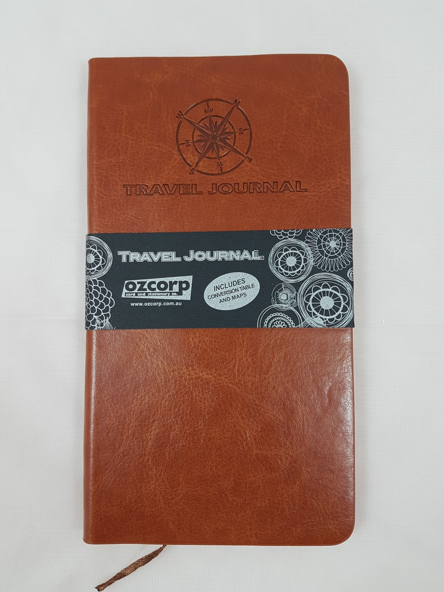 Travel Journal Slim Tan Softcover