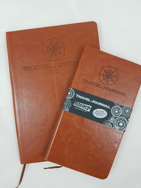 Travel Journal A5 Tan Softcover
