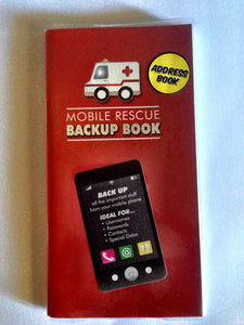 Mobile Rescue Backup Book for your mobile phone