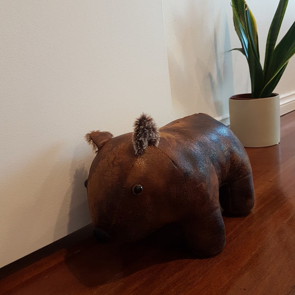 Aussie Doorstop Wally the Wombat