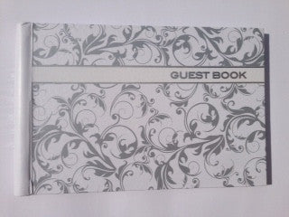 Guest Book  - Silver Linework