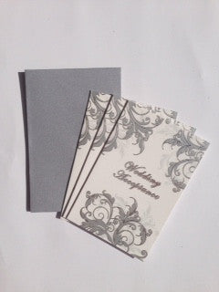 Acceptance Cards Silver Swirl - Wedding