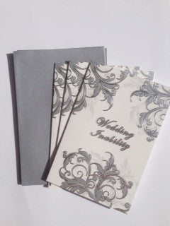 Inability Cards Silver Swirl
