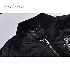 HARDY HARDY Skull Men's Jacket with Zip-up Sleeve