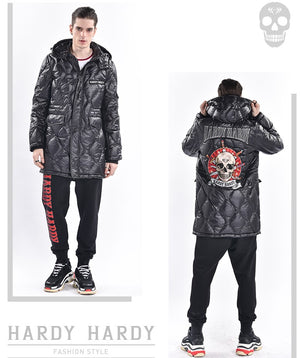 Skull & Swords Embroidery Men's Down Jacket