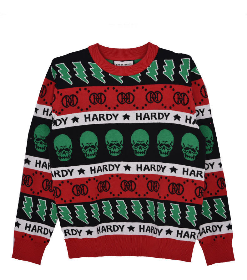 HARDY HARDY Multi Colour Skull Unisex Sweater