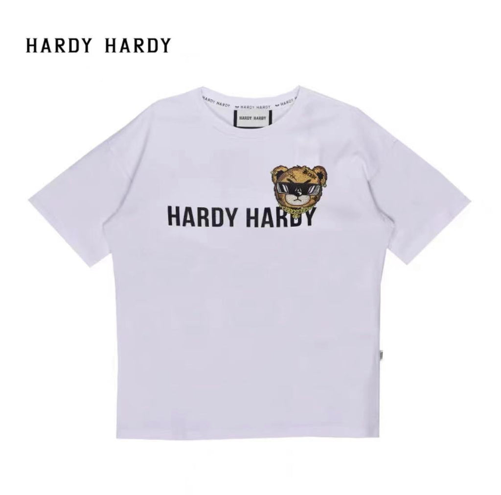 HARDY HARDY Brave Bear In Monogram Tee Men's Tee