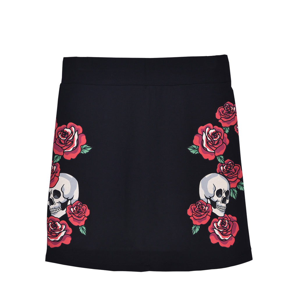 HARDY HARDY Skull With Roses Women's Skirt