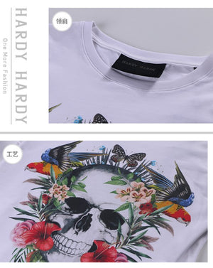 HARDY HARDY Tropical Forest Skull Women's Tee