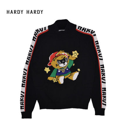 HARDY HARDY Gaming Bear High Neck Women's Sweater