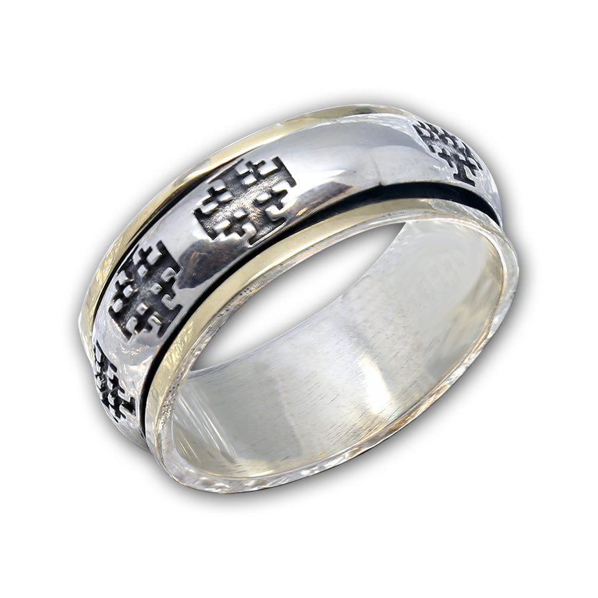 Jerusalem Cross Ring - Ezra