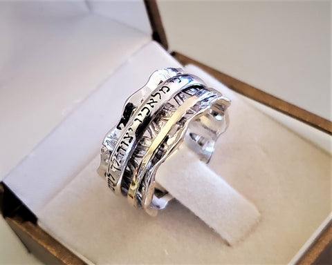 Crown Charm Spinner Ring - Zeruiah