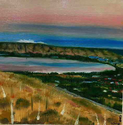 Oil On Canva Israel Art - Kinneret