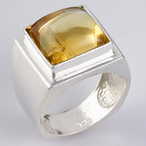 Cameo Citrine Initial Ring - Ephrath