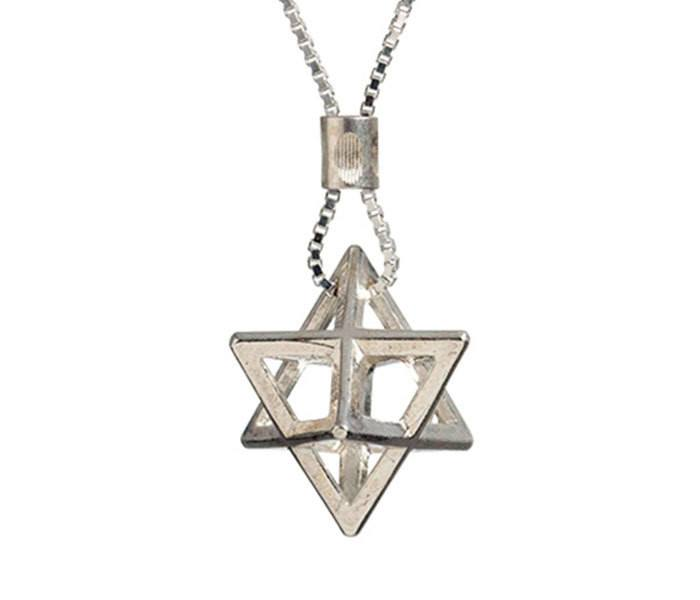 3d Star Of David Necklace, The Big Chariot Pendant (ha Merkava), Star Of David Pendant, Jewish Necklace,kabbalah Necklace, Spiritual,judaica